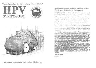 HPV Symposium Eindhoven [NL], 1993 organised by W.S.V. Simon Stevin