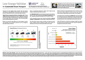 Low Energy Vehicles poster at Loughborough 2015 Simon Bailey [GB]