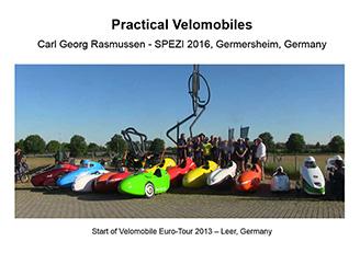 Practical Velomobiles presentation at SPEZI 2016 Carl Georg Rasmussen [DK]